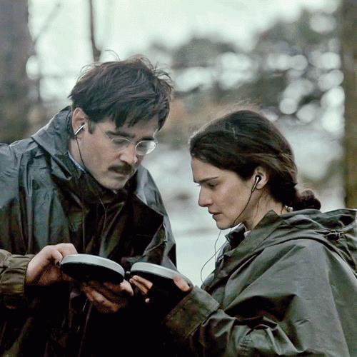 "Colin Farrell e Rachel Weisz in ""The Lobster"""